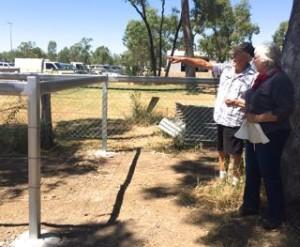 Gemfields Tim showing megan new fences