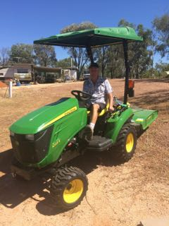 Gemfields Tim Riley with new tractor
